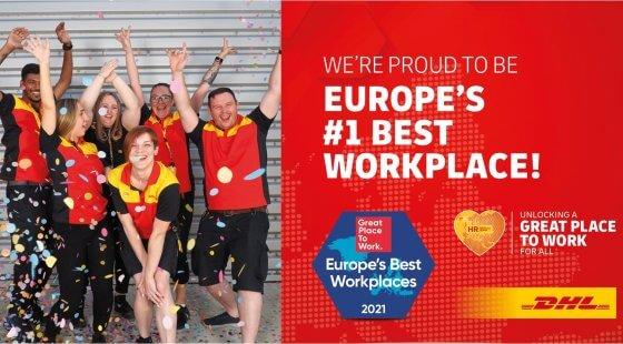 DHL Express najlepszym miejscem pracy w Europie w 2021 r.